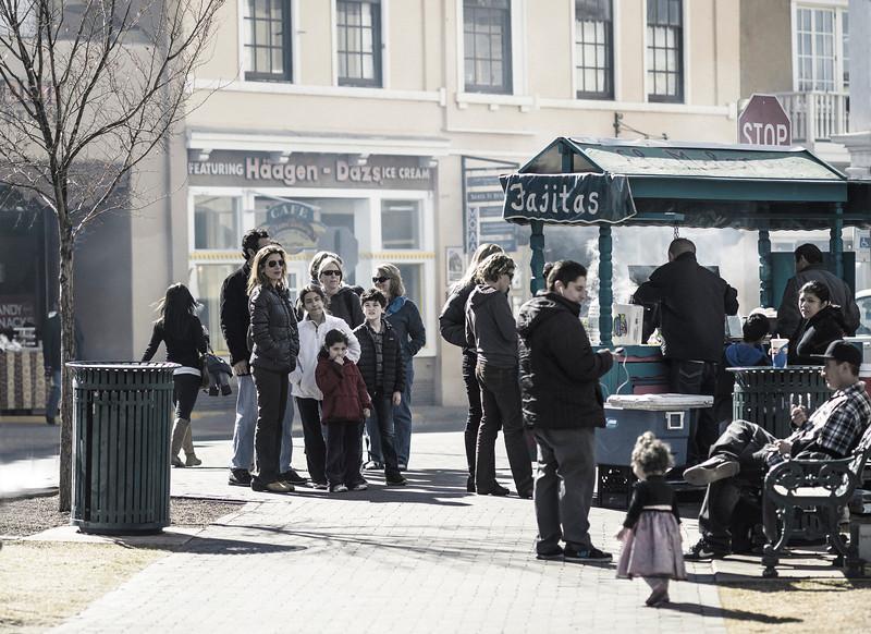 Fajitas for Lunch, II, Zocalo, Santa Fe, NM