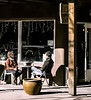 Conversation, Marcy Street, Santa Fe, NM