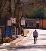 Walking, I, Canyon Road, Santa Fe