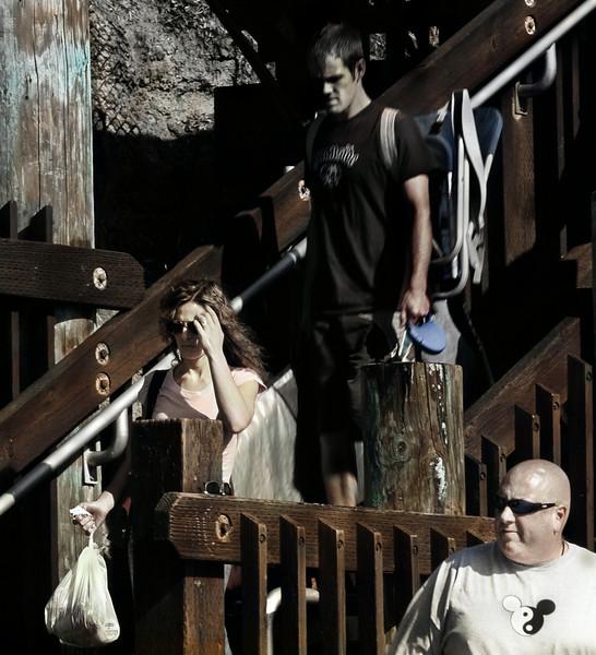 On the Stairs, Swami's Beach, Encinitas