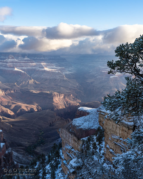 Rock, Snow, Canyon