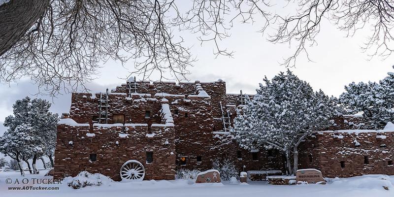Hopi House In Snow