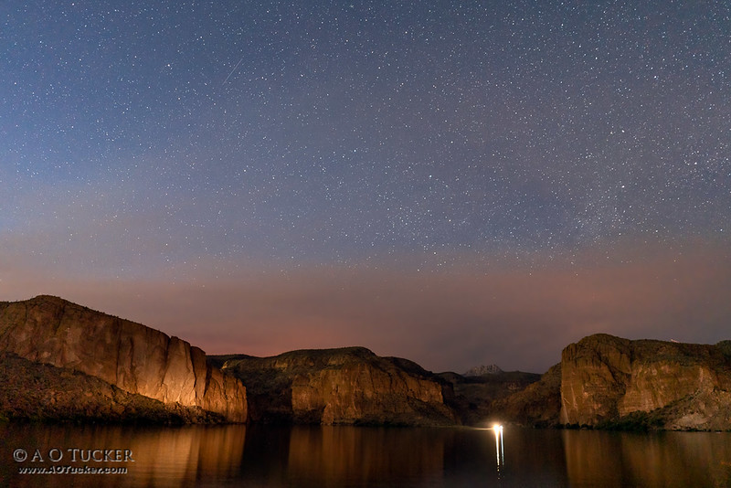 Smoke And Stars Over Canyon Lake