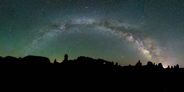 Milky Way Arches Over Arches National Park