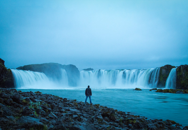 Standing Before Goðafoss
