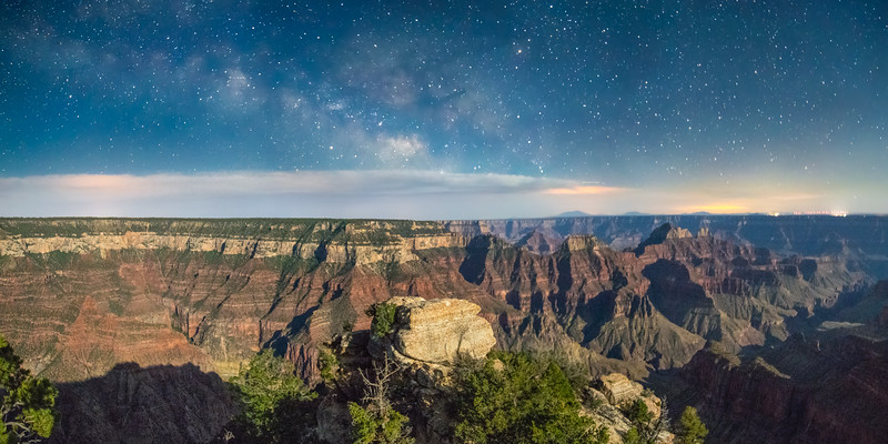 Moonlit Canyon and Milky Way Core