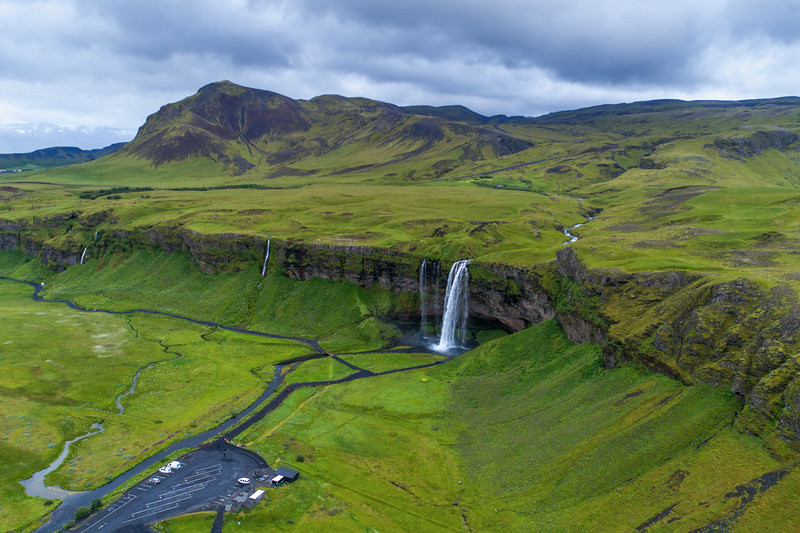 Seljalandsfoss from the Air