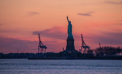 Liberty at Sunset