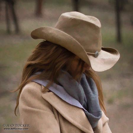Grand Canyon Cowgirl - Digital Art