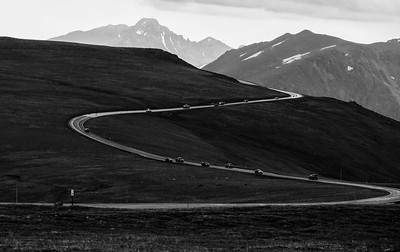 Trail Ridge Road with Longs Peak.