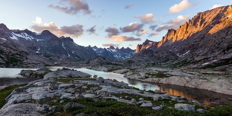 Evening at Titcomb Basin
