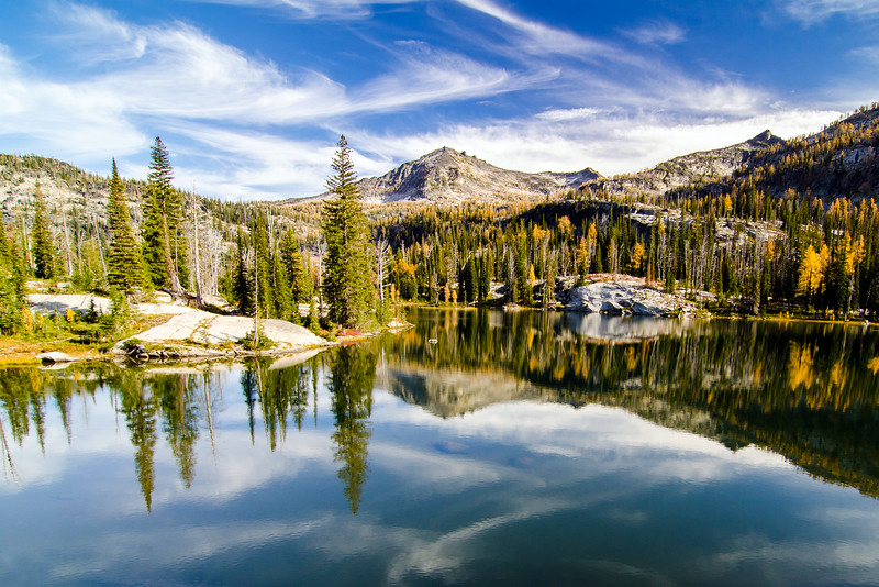 Whites Mountain and Hackney Lake, Bitterroot Wilderness, Montana