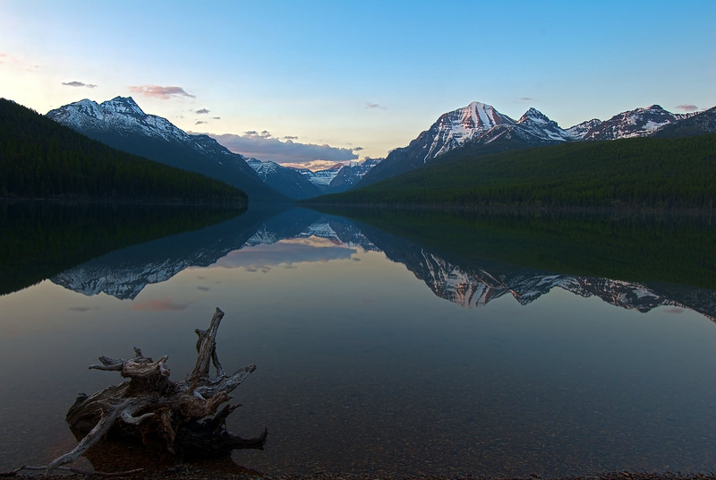 Bowman Lake Sunset, Glacier National Park, Montana
