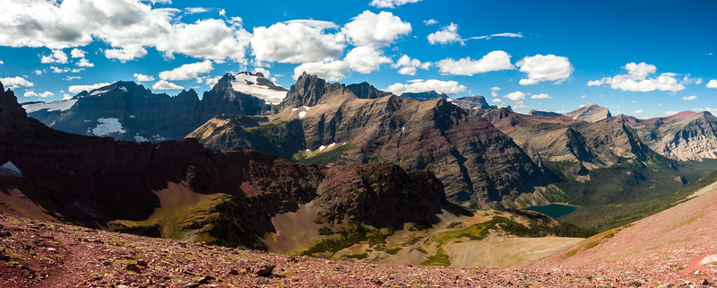 View from Red Pass, Glacier National Park, Montana