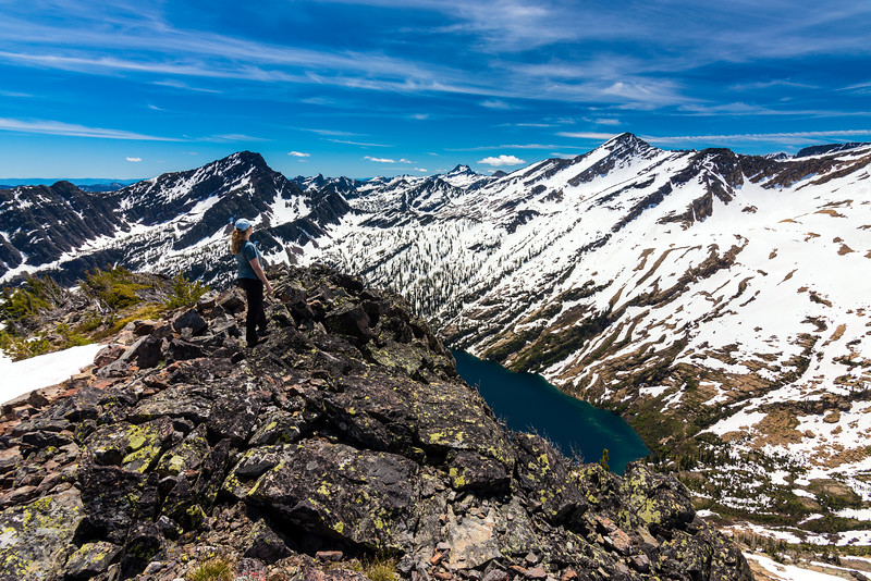 A nice view south from Pt St Charles, Mission Mountain Wilderness