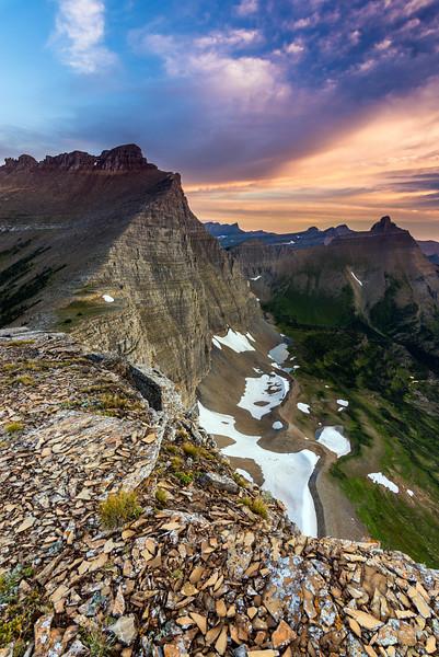 Morning time from Triple Divide Peak, Glacier National Park