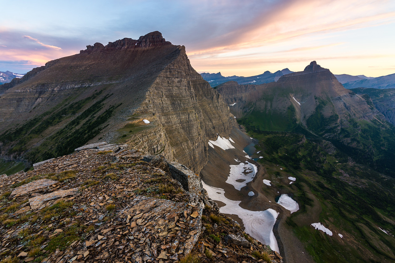 Mt Norris and Split Mountain, Glacier National Park