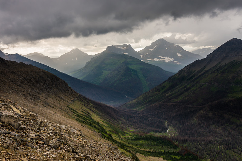 A view from Cut Bank Pass, Glacier National Park