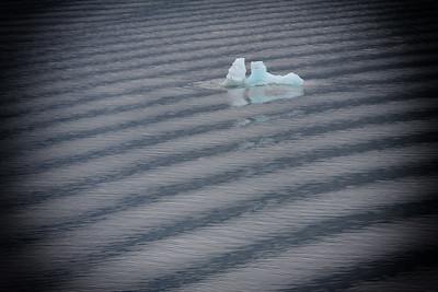 Patterns on the water near Endicott Glacier