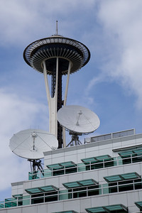 Space Needle and Satellite Dishes