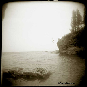 Black Rock Jumpers, Preque Isle, Marquette (Holga)
