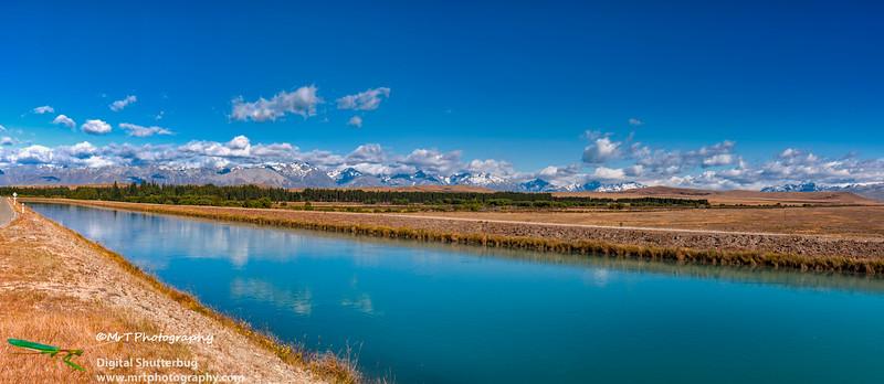 Pukaki irrigation canal Mackenzie Country