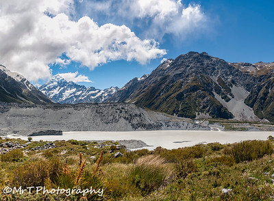Aoraki Mt Cook and the Hook River Aoraki Mt Cook National Park