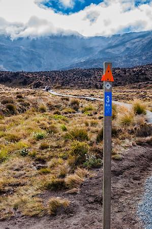 The 3Km mark Tongariro Crossing