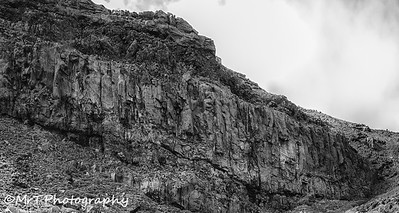 Volcanic rock wall Tongariro Crossing