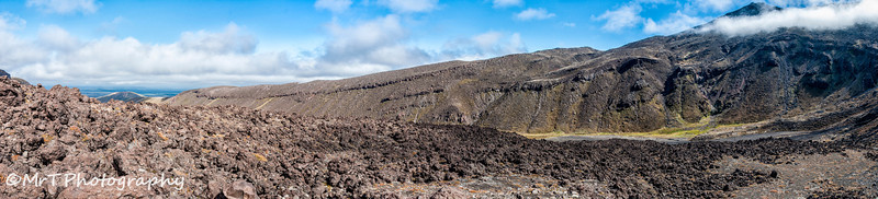 The climb to the Devil's Staircase Tongariro Crossing