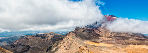 Mt Ngauruhoe and the southern crater