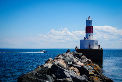 The Presque Isle Harbor Breakwater Light, Marquette