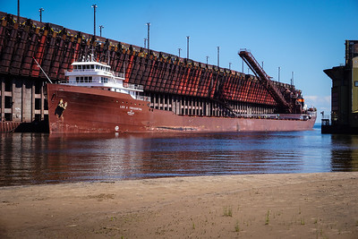 Iron Ore dock loading the Lee A Tregurtha, Marquette.