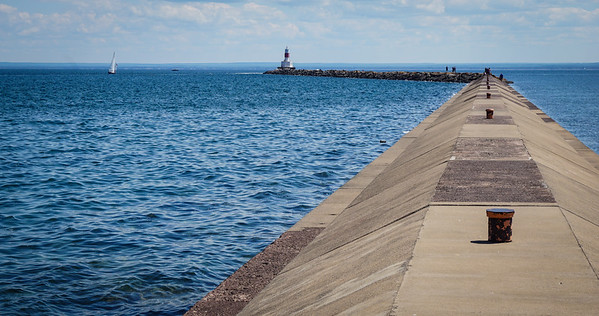 The Presque Isle Harbor Breakwater Light, Marquette.