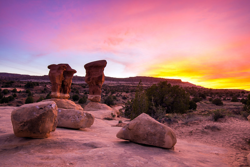 Devil's Garden Sunset, Grand Staircase-Escalante National Monument