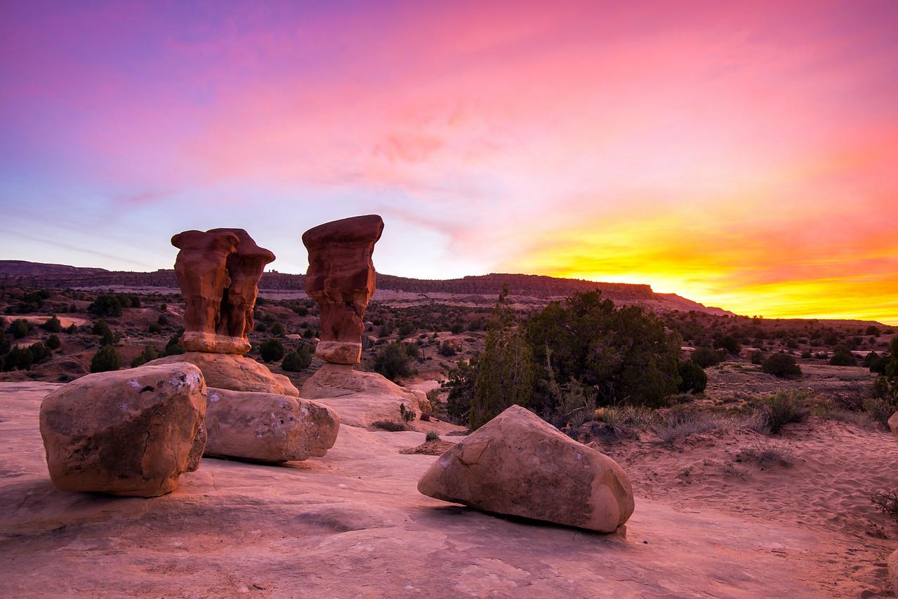 Devil's Garden Sunset, Grand Staircase-Escalante National Monument