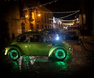 Green VW Beetle