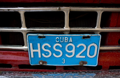 Vintage Car and License Plate