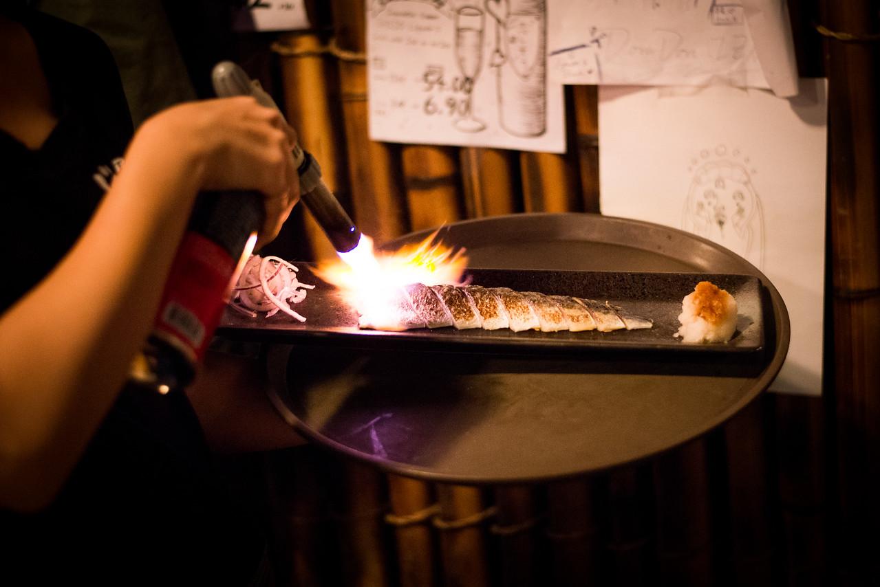 Torched Mackerel Sashimi
