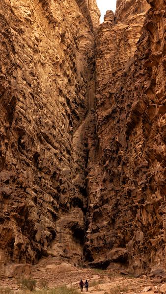 Figures in Canyon, Wadi Rum