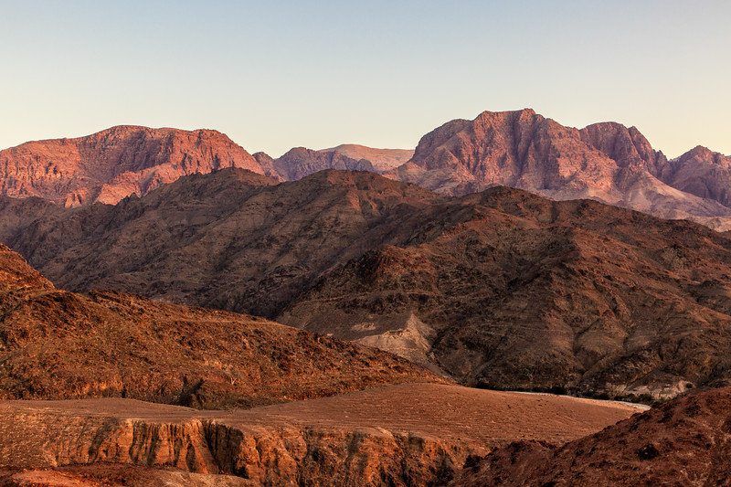 Mountains in Setting Sun, Dana Biosphere Reserve