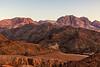 Mountains in Setting Sun, Dana Biosphere Reserve