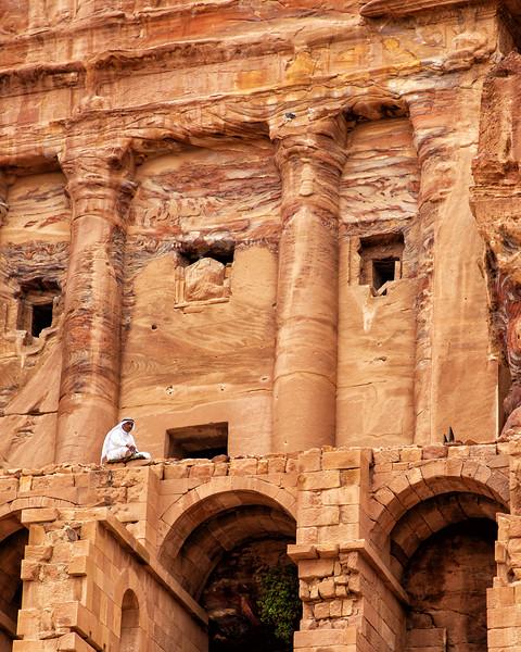 Man Sitting Near Tombs, Petra