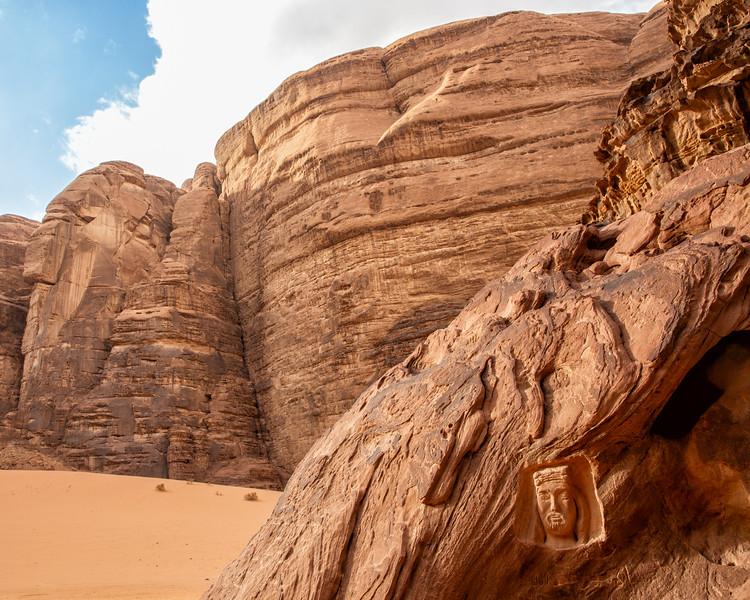 Stone Carving, Wadi Rum