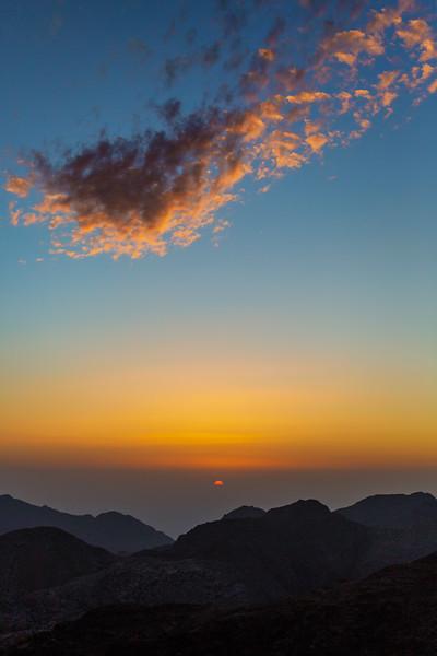 Desert Sunset, Dana Biosphere Reserve