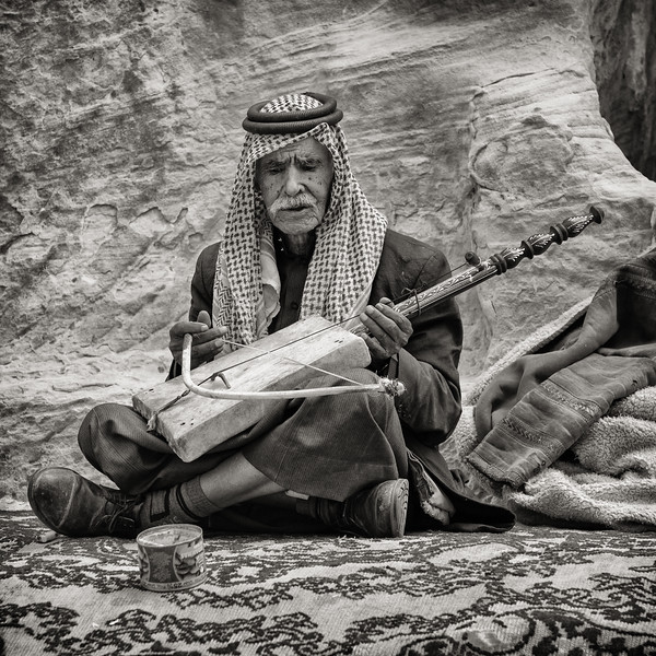 Bedouin Man Playing the Rababeh