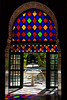 Stained Glass and Garden, Bahia Palace, Marrakech