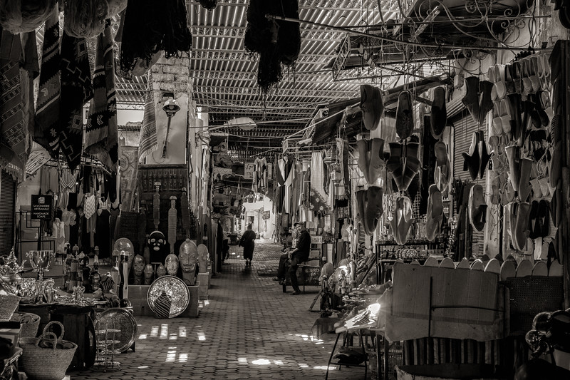 Quiet Morning in the Souk, Marrakech