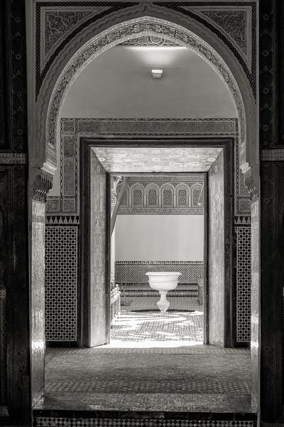 Doors and Fountain, Bahia Palace, Marrakech