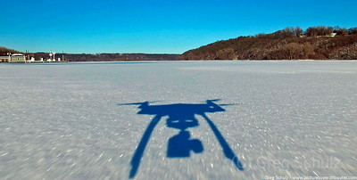 Down low over St. Croix River
